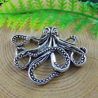 5pcs Vintage Silver Alloy Octopus Squid Charms Pendant Jewelry DIY Accessories