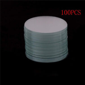 100 PCS/Box Large Glass Circular Coverslip Slides Big WHB Round Covers