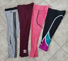 Lot of 4 Womens Leggins Adidas Puma VSX Workout Capri ALL MEDIUMBlack