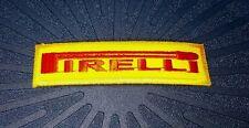 PIRELLI RACING TEAM Embroidered Patch Iron Sew Logo Hardcore Emblem motor bike T
