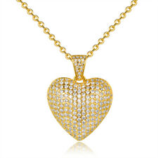 Sevil 18K Gold Plated Heart Pendant Necklace With Swarovski Elements