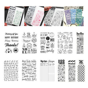 Christmas Background Word Clear Stamps Diy Scrapbooking Paper Embossing Crafts