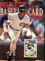 BECKETT BASEBALL CARD MONTHLY PRICE GUIDE MAGAZINE MARK GRACE APRIL 1990 #61