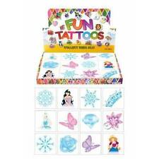 72 x ICE PRINCESS Snow Queen Temporary Tattoos Kids Girls Party Bag Filler Toy