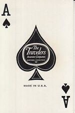 1 Single Vintage Swap Playing Card NN EXPRESS TRAIN TRAVELERS INS. ACE OF SPADES
