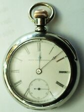 1887 ELGIN NATIONAL WATCH 18s RAILROAD GRADE 76 HH TAYLOR 15 JEWEL POCKET WATCH