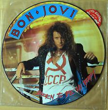 "EX! BON JOVI BORN TO BE MY BABY 12"" VINYL PICTURE DISC JOVP 412"