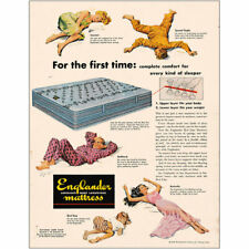 1948 Englander Mattress: For the First Time Vintage Print Ad