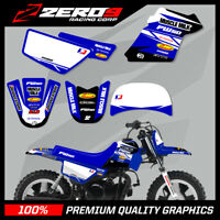 YAMAHA PW50 MOTOCROSS MX GRAPHICS DECAL KIT MUSCLE MILK BLUE / BLUE (NO CUSTOM)