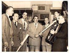 1948 Wirephoto Boston Braves Celebrating the Pennant Photo From Cooney Estate