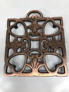 """The Pampered Chef # 2939 """" Round-up from the Heart"""" 2008 Trivet SQUARE"""