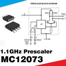 10x 1.1 GHz Vorteiler 64 : 1  Motorola MC12073DR2 SMD SOIC8
