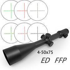 4-50x75 ED FFP optical Sight apochromatic lens long range hunting rifle scope