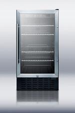 """Summit SCR1841B 18"""" Built In Undercounter Beverage Center"""