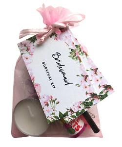Bridesmaid Survival Kit - Novelty Fun Thank You Gift Item - Wedding Favour Bag