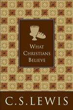 What Christians Believe a Hardcover book by C S Lewis cs FREE SHIPPING