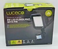 Luceco Guardian Slimline 8W Floodlight With PIR IP44 Black - NEW