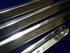 Jaguar XJ6 SWB  Door Sills Tread Plates Stainless steel Etched Logo