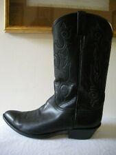 SUPERFINE~! Vintage 90's Lucchese Classics Western Cowboy Boots Black 14 D