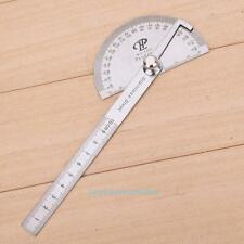 Stainless Steel 180 Rotary Protractor Angle Gauge Ruler Measure Tool Adjustable
