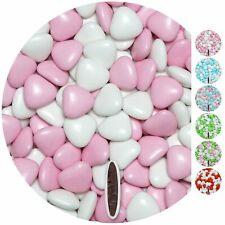 1kg Schokoherzen Dragees Mix medium weiss-rosa glanz Herz Schokodragees
