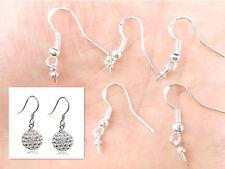 20PCS DIY Fashion 925 Silver Jewelry Findings Earring Hook Ear wire earing