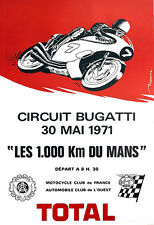 Circuito Bugatti MOTO 1000 KM DU MANS RACE BIKE POSTER stampati