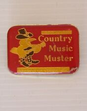 VINTAGE COMMONWEALTH BANK COUNTRY MUSIC MUSTER AMAMOOR GYMPIE LAPEL BROOCH PIN