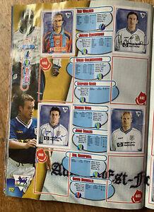 Signed X7 Tottenham Hotspur Spurs Merlin 1998 Football Sticker 3 Pages Autograph