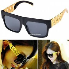Women Sunglasses Sun Glasse Retro Fashion New Metal Arm Flat Top Matte Black