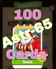 Coin Master :-) 100x Santa Card. Fast Delivery