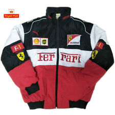 More details for 2021 ferrari red black embroidery exclusive jacket suit f1 team racing