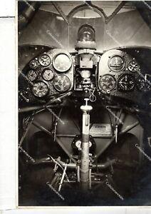 875 8) WW2 R 4 FOTO AEREO CR 42 PARTICOLARI INTERNI  MOTORE   STRUMENTI REGIA A