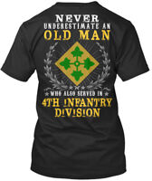4th Infantry Division United States - Never Underestimate An Premium Tee T-Shirt