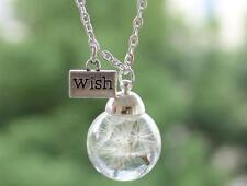 MAKE A WISH Gift Terrarium Dandelion Seed Necklace Botanical Pendant