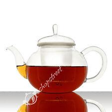 800ml Clear Glass Heat Resistant Gongfu Tea Maker Teapot Pot w/t Infuser E-039