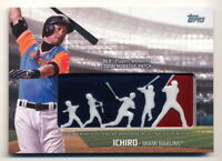 ICHIRO 2018 TOPPS PLAYERS WEEKEND COMMEMORATIVE LOGO PATCH RELIC #PWP-I