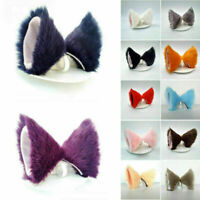 Girls Cat Orecchiette Ears Hair Clip Costume Cosplay Animal Hair Long Barrette