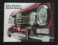 "1967 ""THE ALFA ROMEO GIULIA SUPER"" CATALOG SALES BROCHURE VERY NICE 20 pages"