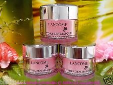 3X Lancome Hydra Zen Masque Anti-Stress Moisture Overnight Serum Mask 15MLX3