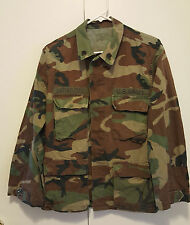 Genuine US Army Military Camo Woodland Coat Small Short Camouflage