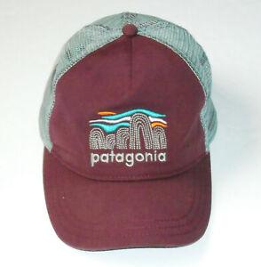 PATAGONIA Baseball style Trucker Hat MAROON & GRAY Low Profile Cap Unisex NEW