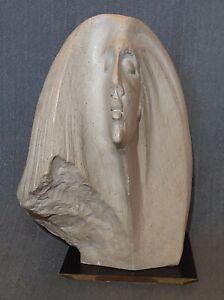 STARGAZER Female Bust Sculpture by David Fisher Austin Productions 80's Damage