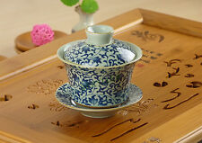 Cherry Leaves Porcelain Gongfu Gaiwan Teacup 100ml 3.4fl.oz * Free Shipping