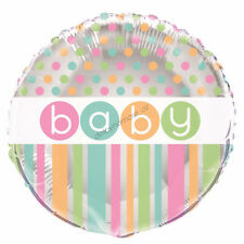Baby Shower Pastel Party Decoration Green Unisex Helium Air Foil Balloon 18""