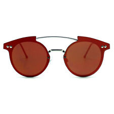 "NEW SPITFIRE Silver/Red ""TRIP HOP"" Retro Flat Lens Sunglasses -SALE"