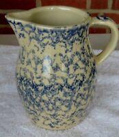 Vintage Spongeware Pottery Pitcher by Robinson Ransbottom Roseville Ohio 1 qt.