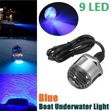 1/2'' NPT Stainless Steel Blue 9LED Boat Marine Underwater Diving Light Swim 12V
