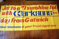 1971 Jet to Sunshine Bus London Transport Huge Advertising Exterior Poster