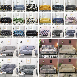 1/2/3 Seater Sofa Covers Slipcover Elastic Stretch Settee Protector Couch Floral